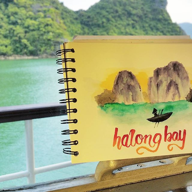 Halong Bay Sketch - @nathanielong