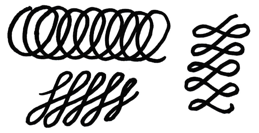 Calligraphy Drills - Chains