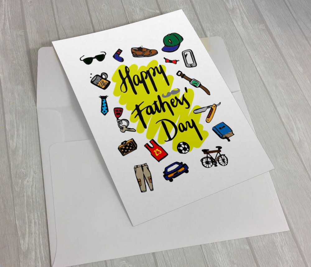 Illustrated greeting card