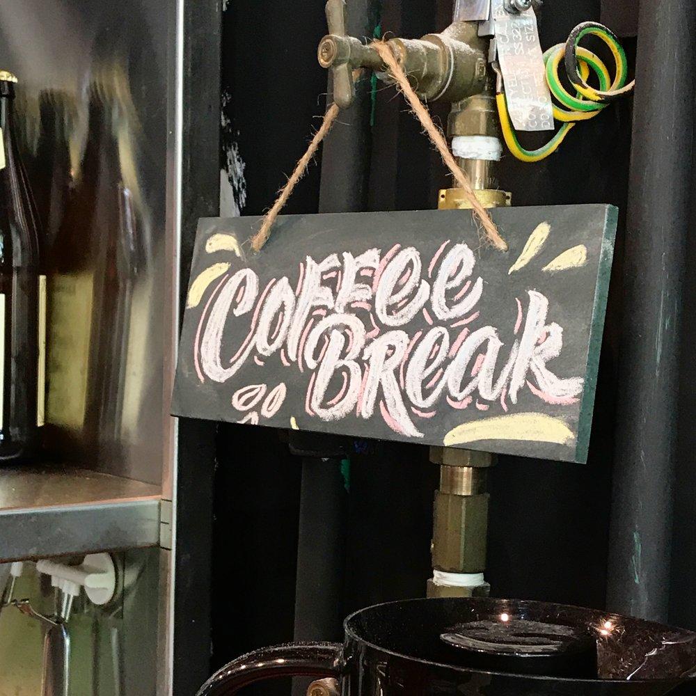 Coffee Break chalk lettering