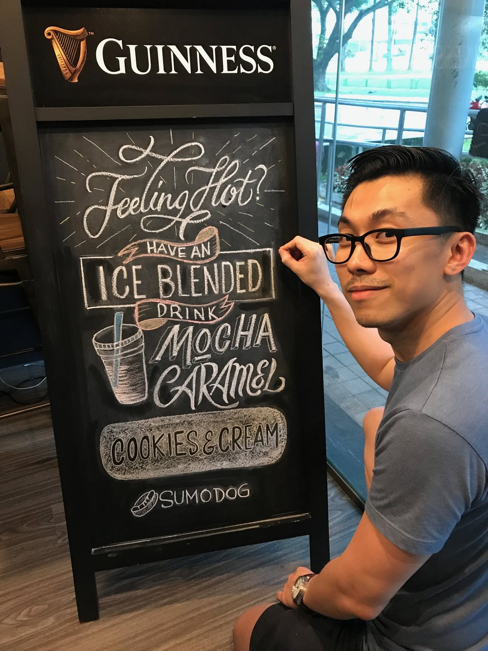 Sumo Dog - Chalkboard for Ice-blended Coffee (Lavender)