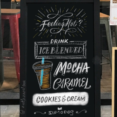 iPad Draft for the Ice-blended Coffee chalkboard