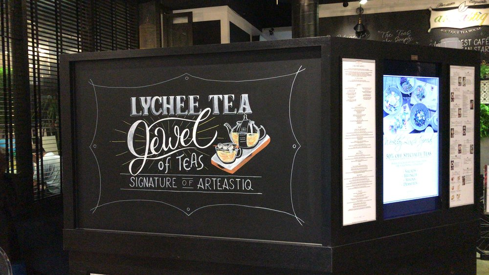 Arteastiq Mandarin Gallery - Lychee Tea Chalkboard