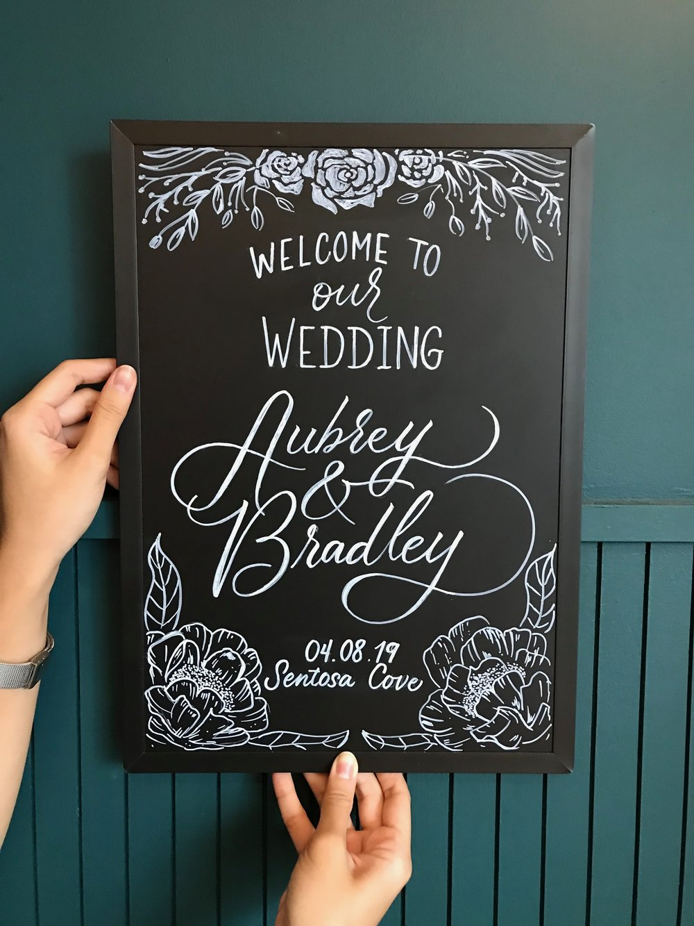 Aubrey and Bradley Wedding Chalkboard Signage