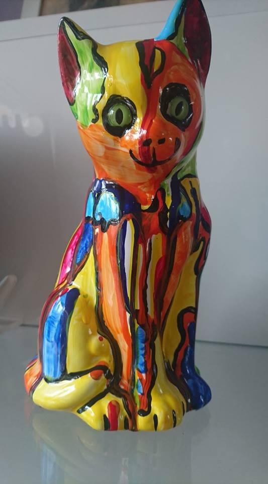 Happy Cat Sculpture