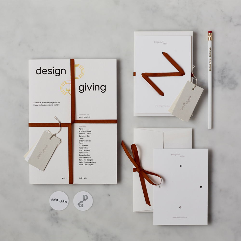 Design Giving Magazine Issue 1 + Stationery