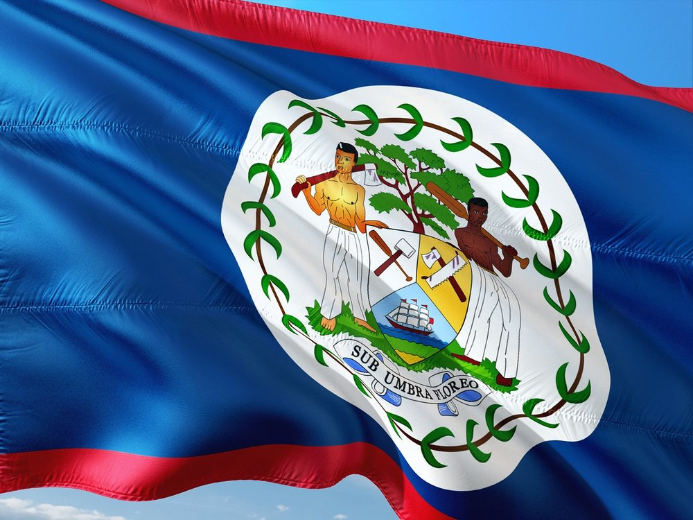 Belize's flag displays the Mahogany tree. -