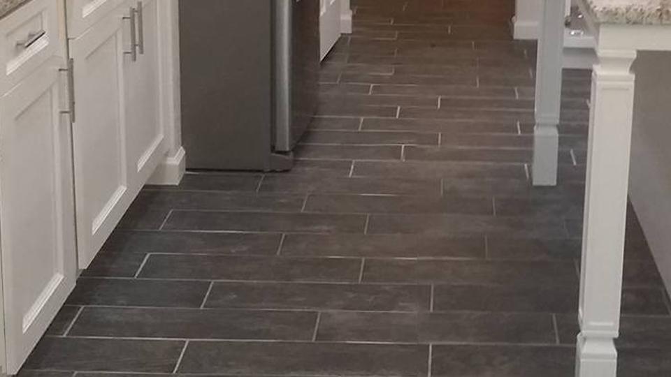 Tile - Beautiful new kitchen floor installation.
