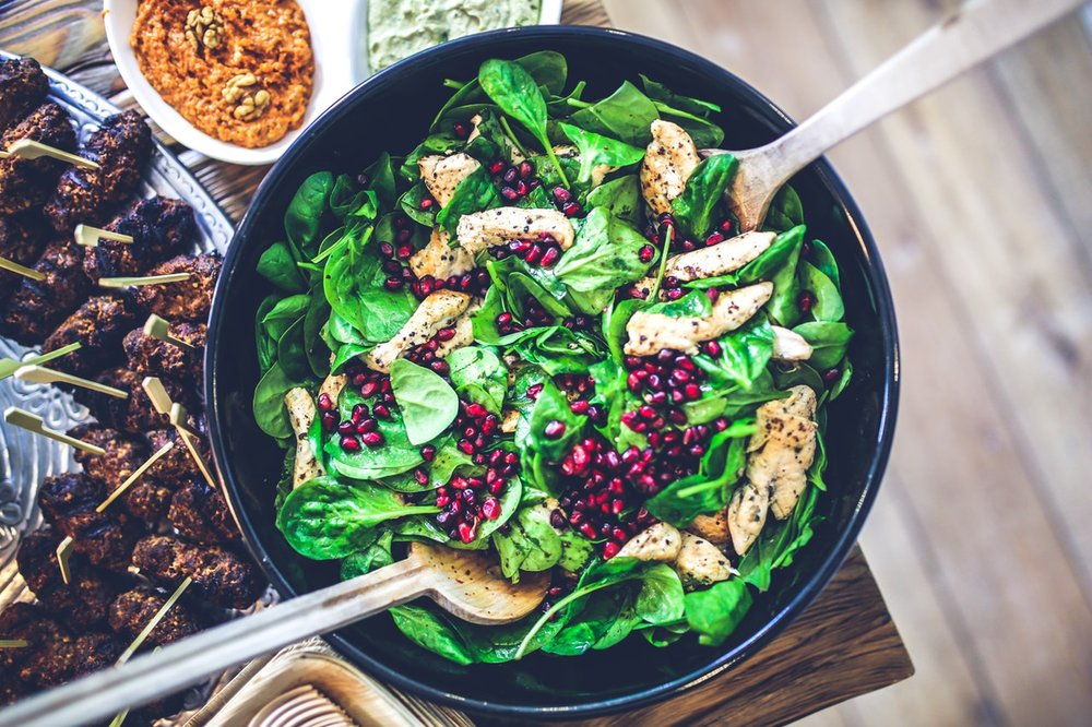 Beautiful bowl of salad