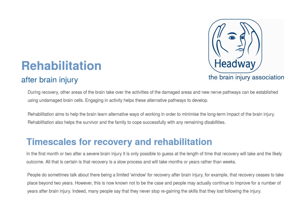 Headway - About Brain Injury, Rehabilitation and Continuing Care