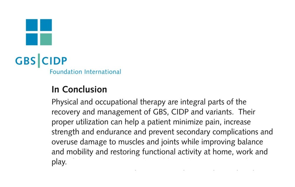 GBS | CIDP Foundation International - Guidelines for Physical and Occupational Therapy