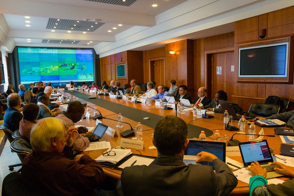 Marine scientists and experts at the Rome conference discussing elements of the consensus statement.  (OSA photo)