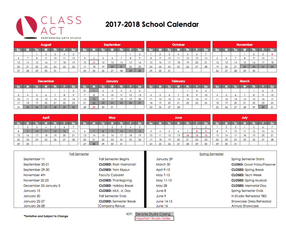 Click Calendar to enlarge and print