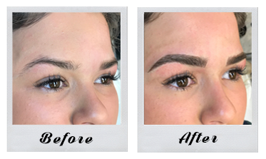 Microblading - Microblading involves a handheld tool called a microblade which tattoos on individual hair strokes with an artistic technique. There is no machine that is used but the microblading artist hand draws each hair to match the colour, shape and bone structure of your eyebrows. The results are a natural looking eyebrow that lasts overnight and does not wipe off! Semi-permanent for 1-2 years.