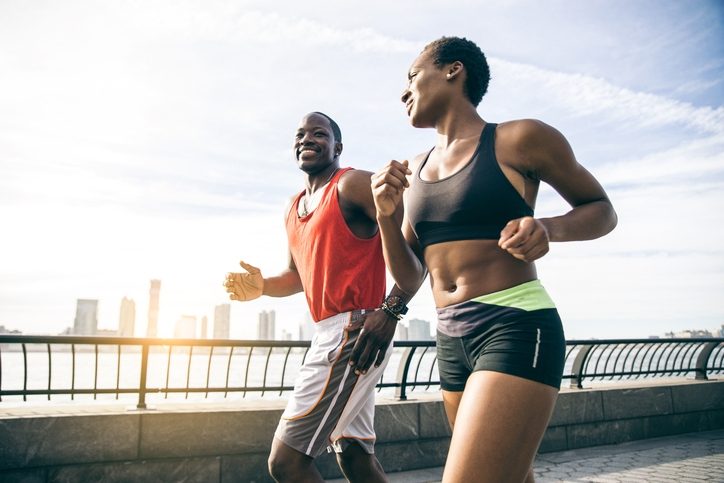 Practically Married : Couple leisurely running