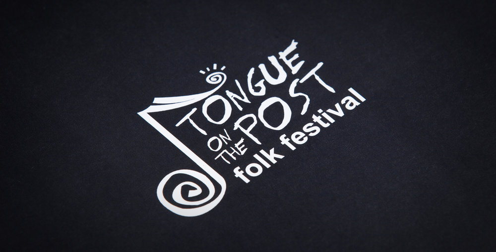 Original tongue on the post folk festival logo design - 2005