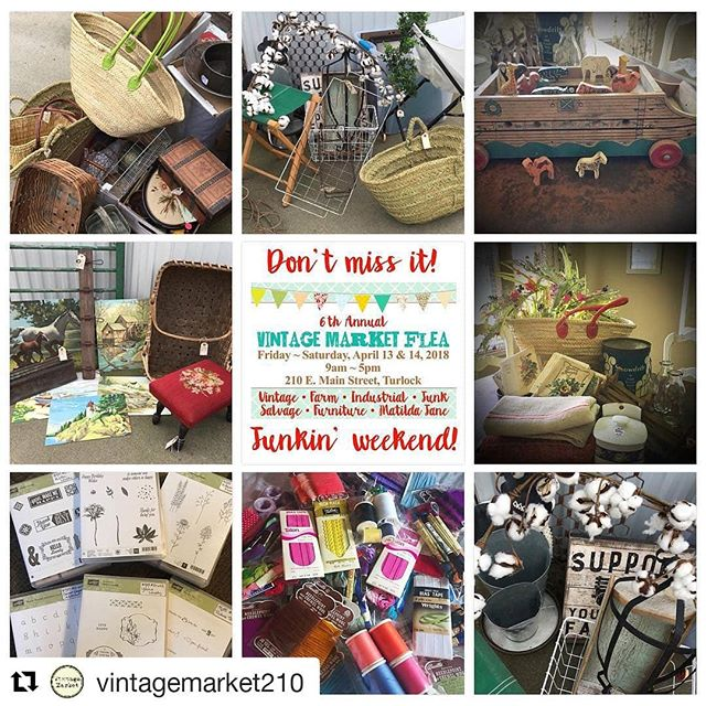 #Repost @vintagemarket210 (@get_repost) ・・・ Sneak peeks!! It's our always highly anticipated Spring Flea Market! 2 days of junkin' fun and deals. Grab your bestie and head downtown and for a fun day of treasure hunting. Make sure to join our event page on FB to see even more sneak peeks! No holds, no quotes ~ we're keepin' it fun and fair for everyone. See ya next Friday!! 😍😍😍 #junk #fleamarket #vintage #salvage #industrial #farm #furniture #kids #matildajane #treasures #funfinds #deals #craftsupplies #vintagemarketturlock #downtownturlock #2daysofdeals