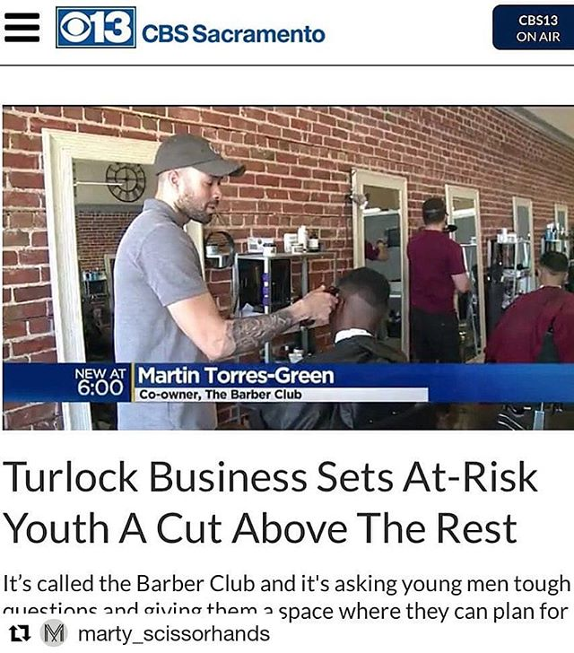 #Repost @marty_scissorhands (@get_repost) ・・・ Special thanks to @cbsnews for the feature. We are honored to serve our community! Whether it be at-risk youth, the elderly, businessmen or the average joe; we consider it a joyful privilege to love our neighborhood well 🙏 #officialbarberclub #missionvision