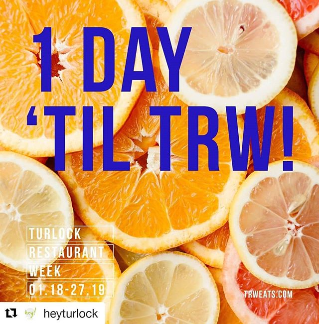 Turlock Restaurant Week starts tomorrow! Check out the Downtown Businesses Participating and make a night of it shopping and eating in our incredible Downtown! #eatdrinkshop #trw2019 @heyturlock
