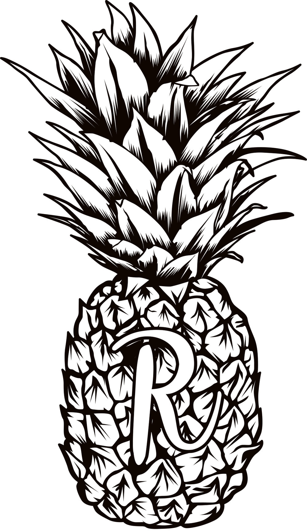 The Rustic Pineapple for Clipart Pineapple Black And White  300lyp
