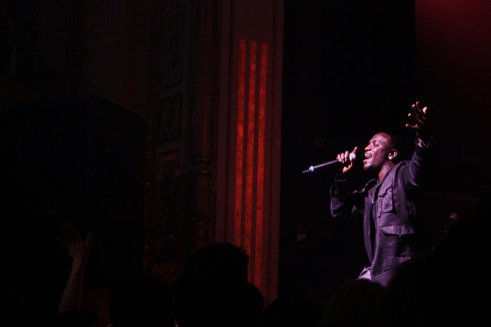 Akon performs at the Apollo (Danielle La Rocco for Forbes)