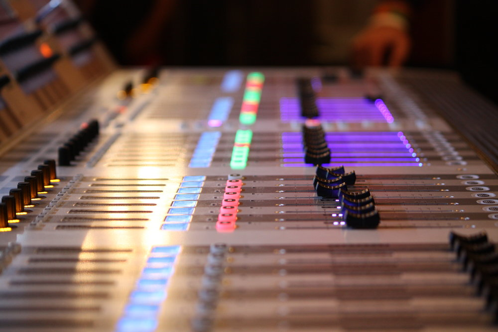 Sound board at The Jacksons concert (Danielle La Rocco for Forbes)
