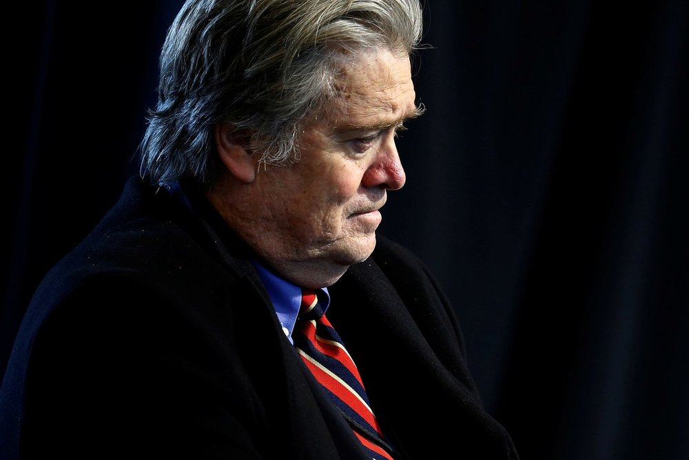 The self-created mythology of the White House adviser Steve Bannon does not hold up to rational scrutiny.