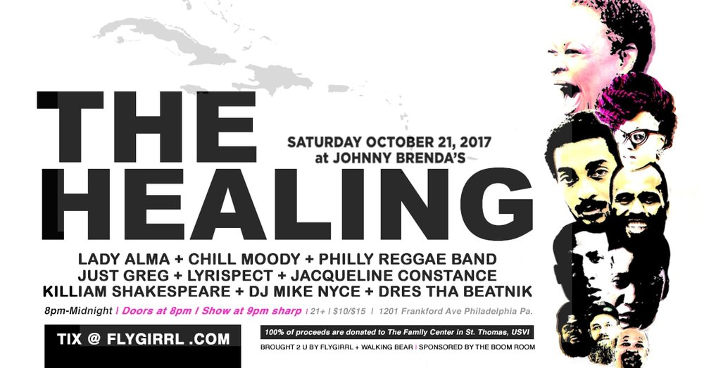 Saturday 10-21-17 8pm THE HEALING  Johnny Brenda's 1201 N. Frankford Ave Philadelphia, PA 21 and over $10 - $15(at door) CLICK IMAGE FOR TICKETS -