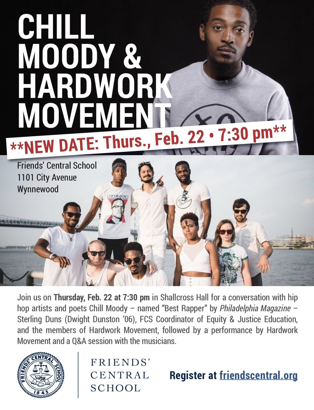 Chill Moody & Hardwork Movement PANEL DISSUSCION Thursday Feb 22nd - 7:30pm  -