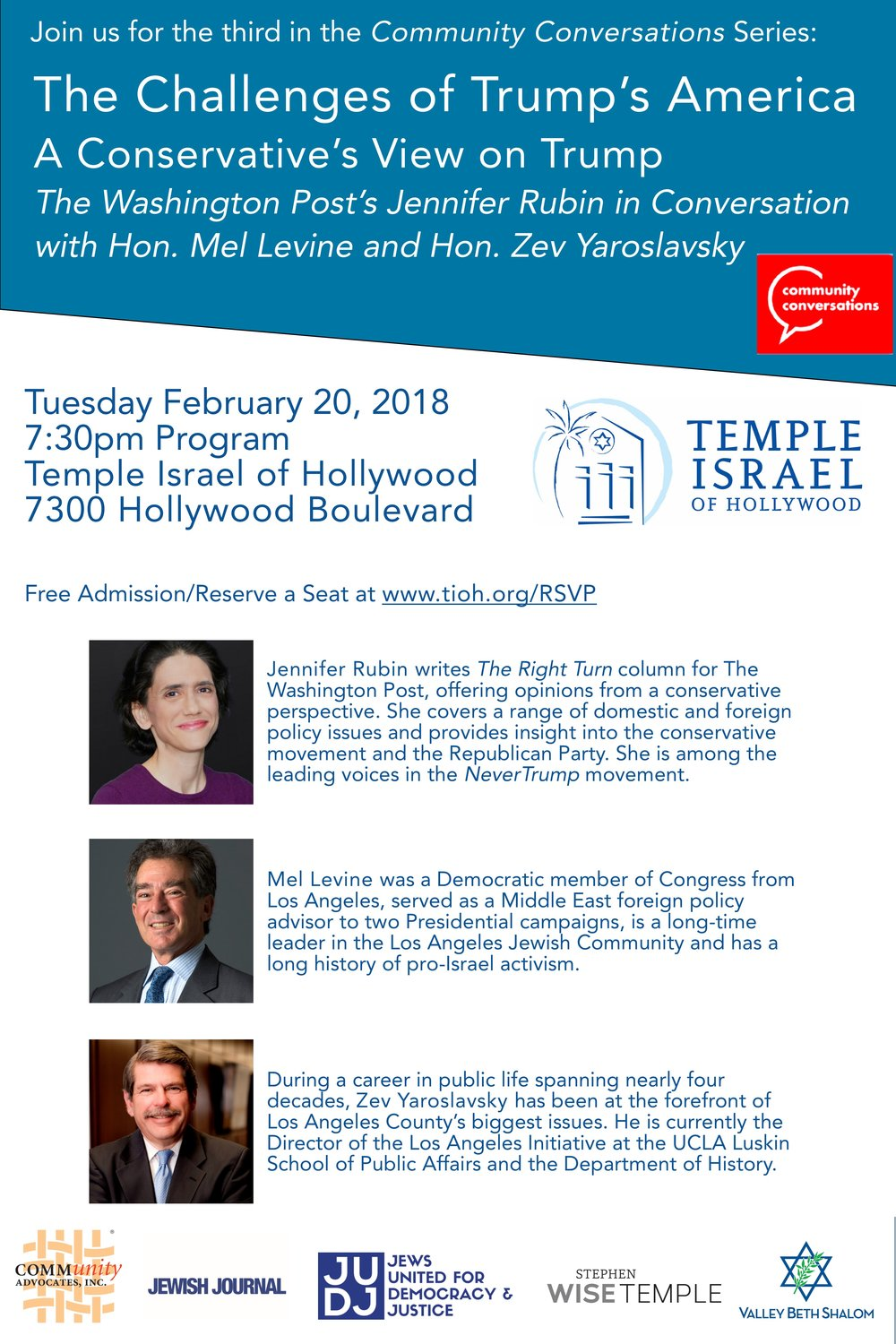 FLYER FOR JENNIFER RUBIN EVENT FEBRUARY 2018   JUDJ Poster.jpg