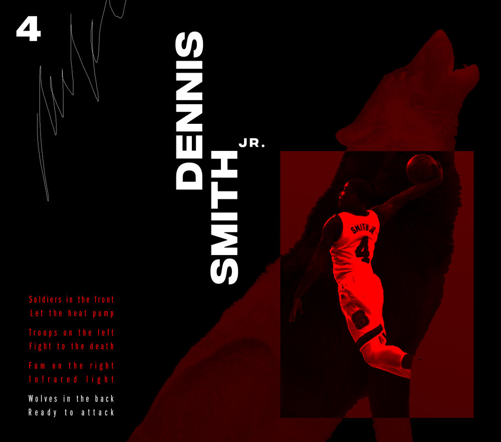Wish I had watched more of  Dennis Smith Jr.  when he was playing at my  alma mater . Dude is just taking the NBA. Here's a visual I've often thought about for an NC State Wolfpack basketball opener. Would be set to Raekwon's  House of Flying Daggers .