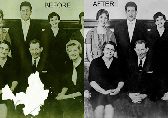 RESTORATION AND TRANSFER SERVICES Beside creating great photography, we can help restore old photography and media, as well as offer transfer services, printing and duplication in a variety of media. Learn More →