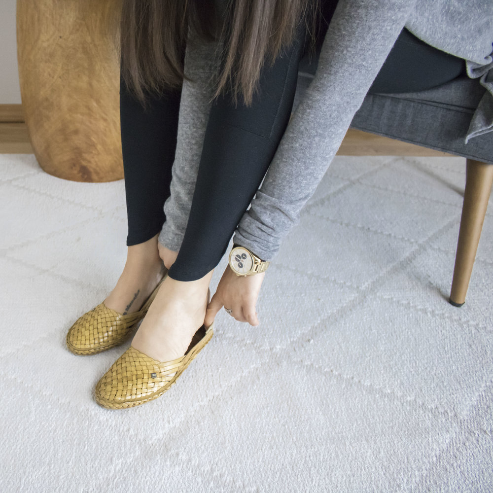 a natural colored woven leather flat is the perfect one-and-done shoe for spring and summer! they can be worn in place of a sandal, ballet flat, or even slip-on sneakers. try these, and support the Indian artisans, as well as their communities, who craft these by hand while you're at it!