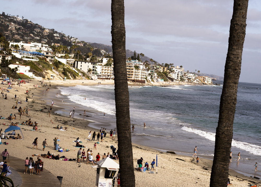The view from our balcony at the Inn at Laguna Beach on our final evening.