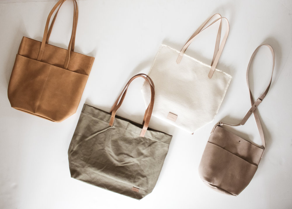 a preview of a few more ABLE handbags coming to the CO-SHOP this fall.