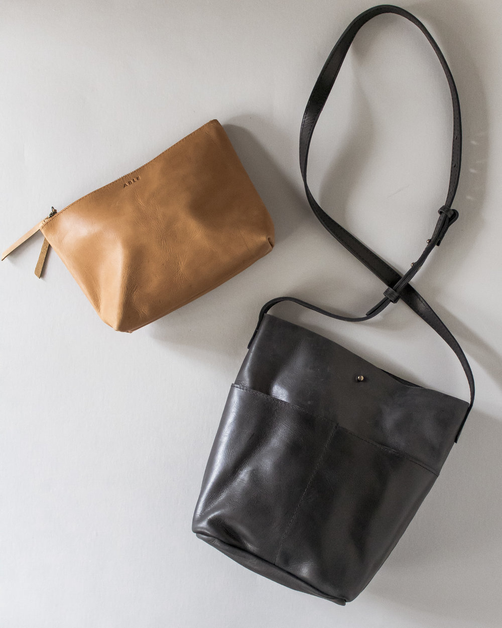 the EMNET LEATHER POUCH and SELAM LEATHER CROSSBODY make the perfect pair.