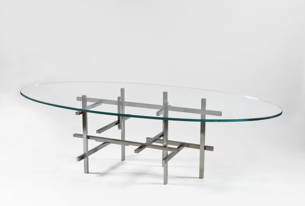"""brushed stainless steel - ¾"""" clear low iron glass - 96"""" x 48"""" x 29.5"""" high"""
