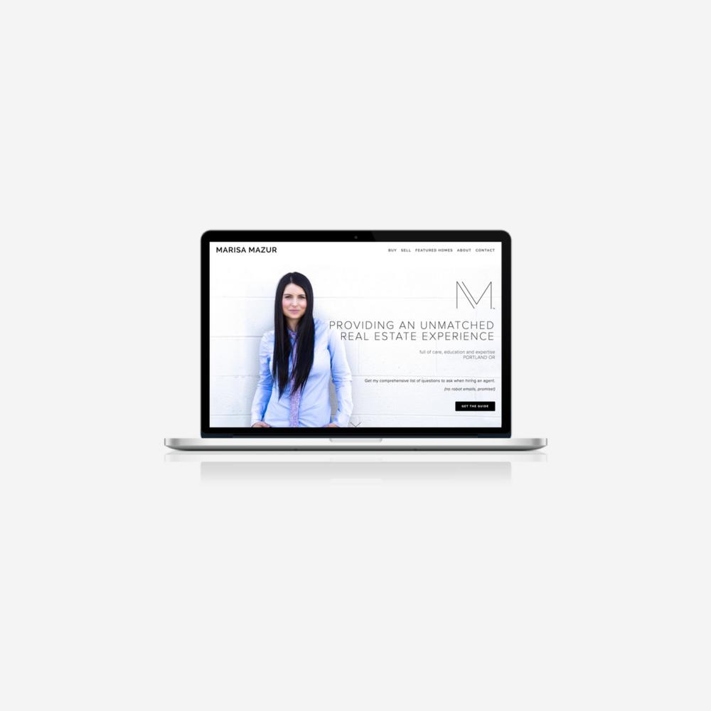 Marisa Mazur Website Design