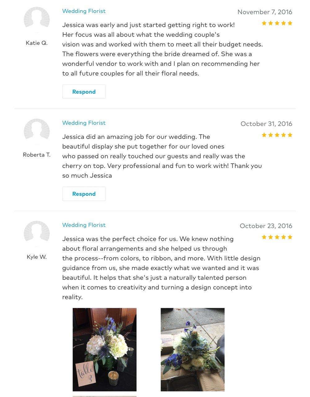 Reviews — jessica vann-campbell flowers