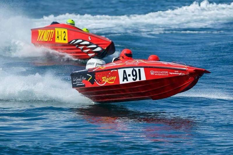 Racing - Bernico utilizes a v-pad design with aggressive strakes and lightweight materials for their small offshore race boats