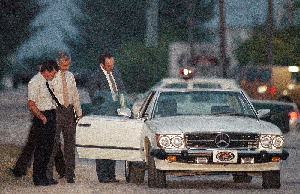 "The film is a ""fictional"" biopic but there seems to be an effort for accuracy. This is a stock photo of the crime scene of Don Aronow in Miami Florida. February 3, 1987."