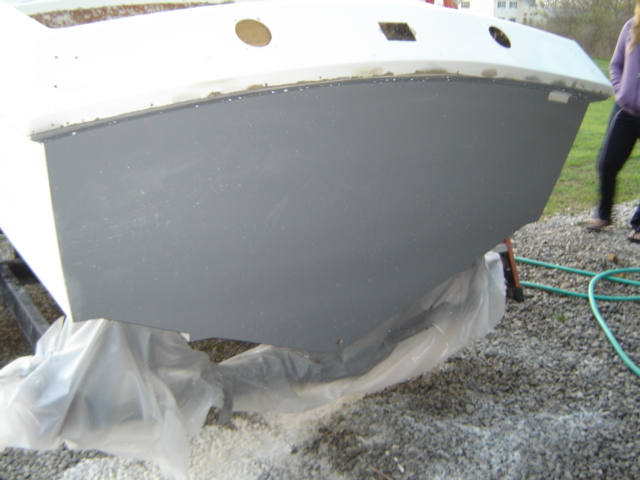 Transom - The transom was redone to accommodate the built Bravo drive.