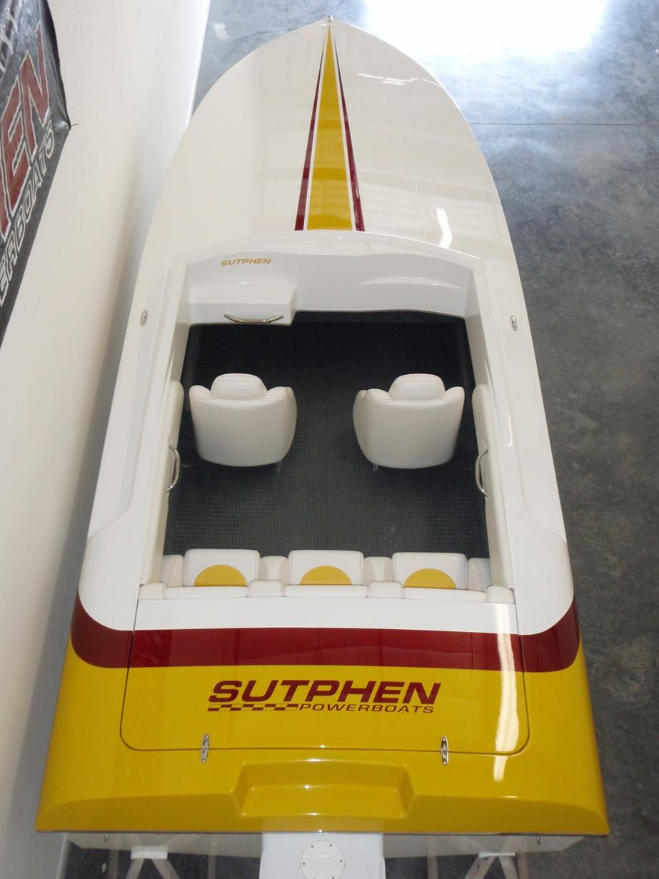 A rare Sutphen 21 SS outboard. Cool boat, great fit and finish with an offshore look.