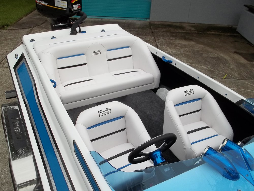 Roomy - The Liberator seats 4 comfortably and is fairly practical, making a great family boat that can rip.