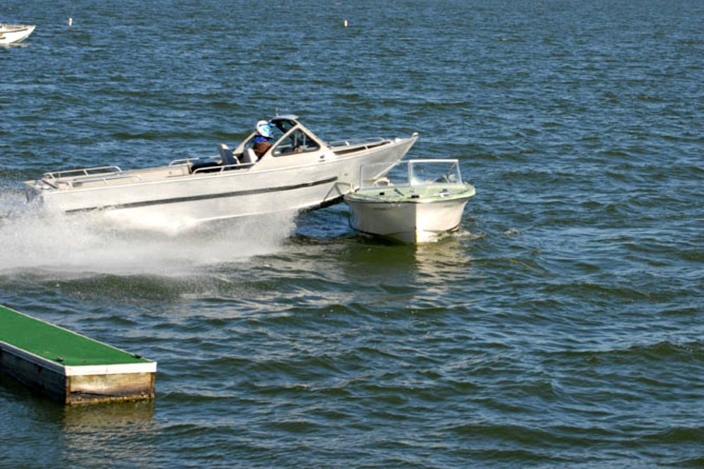 Collision - Boat designs mean the boat with the higher bow will go on top of the other boat or object.
