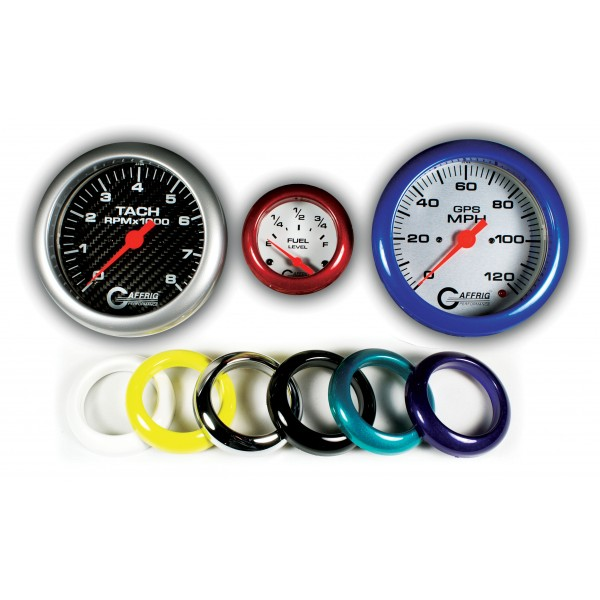 Design - With an array of rim and bezel colors and design, a unique dash layout is easy.