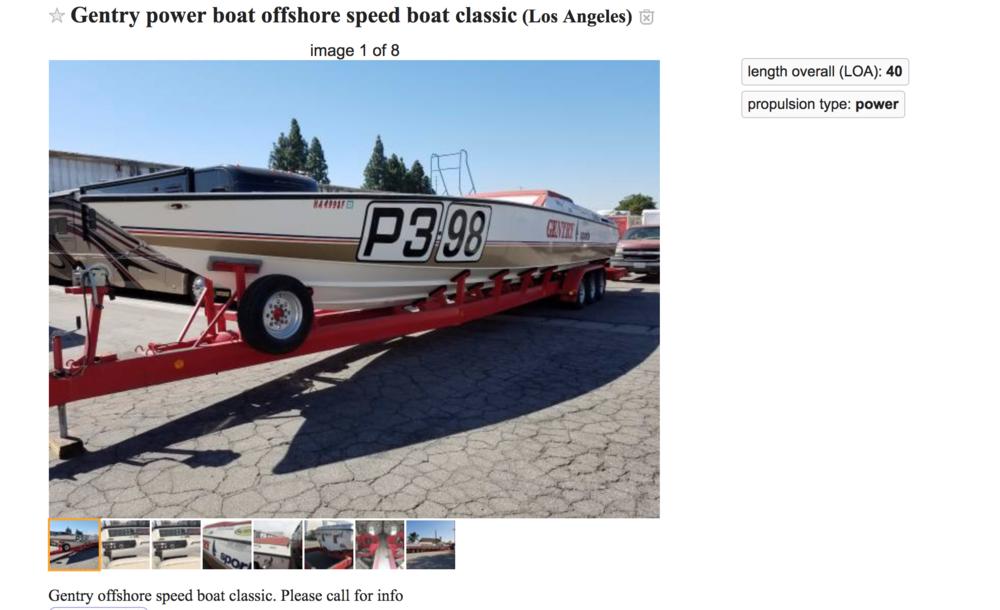 Gentry Scarab 46 race boat