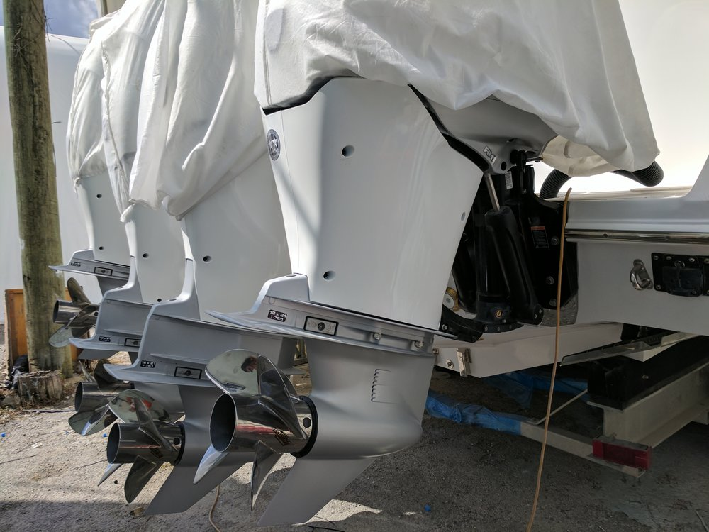 With today's heavy outboards a transom has to be incredibly strong. About 3,000 Lbs. here.