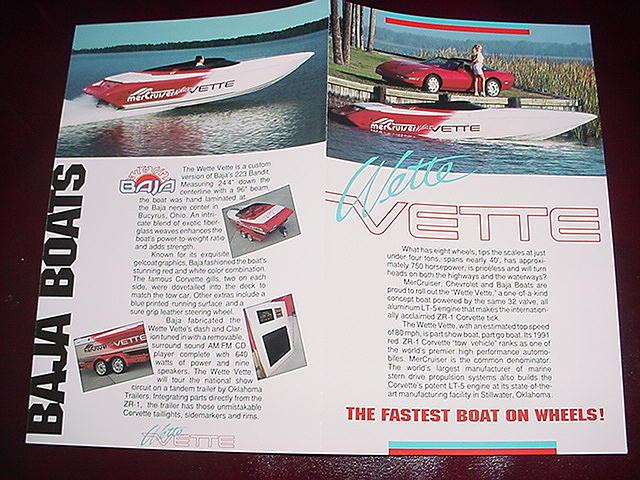 Lots of promotional pieces were generated from car magazines to Popular Mechanics.