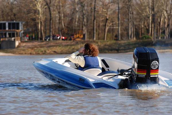 A XR 2002 center steer boat, extremely fast and agile. The design followed the GT series boats